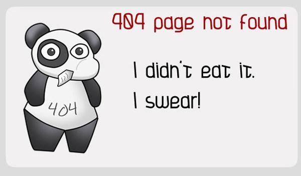 Esempio di immagine divertente associabile ad un'errore 404