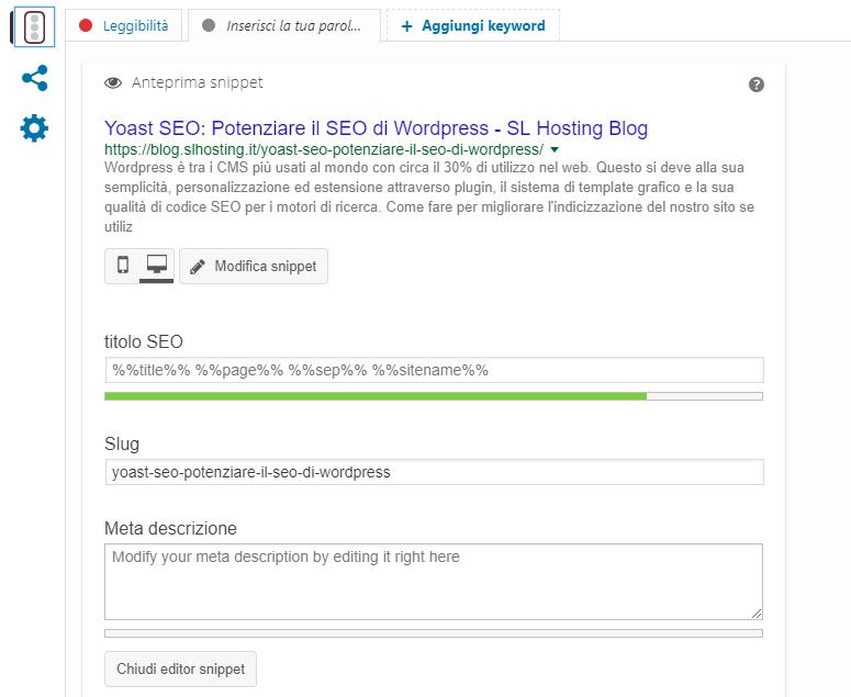 SEO Yoast WordPress: impostare i contenuti SEO individuali